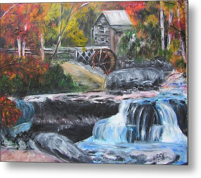 Grist Mill In West Virginia Metal Print by Lucille  Valentino
