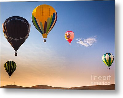 Group Of Balloons Metal Print by Inge Johnsson