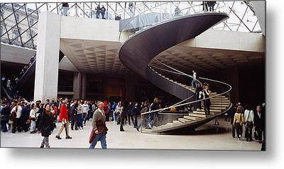 Group Of People In A Museum, Louvre Metal Print by Panoramic Images
