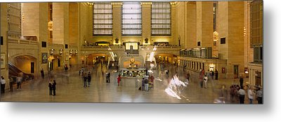 Group Of People In A Subway Station Metal Print by Panoramic Images