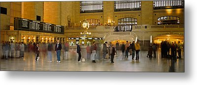 Group Of People Walking In A Station Metal Print by Panoramic Images