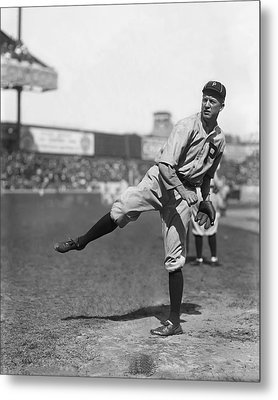 Grover Cleveland Alexander Follow Through Metal Print by Retro Images Archive