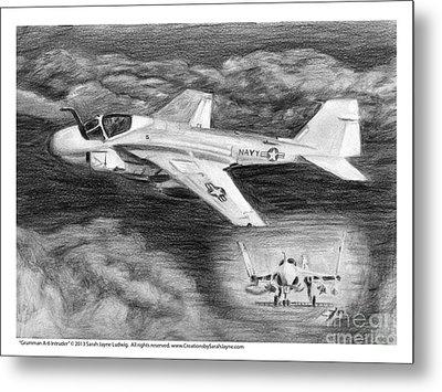 Grumman A-6 Intruder Metal Print by Sarah Howland-Ludwig