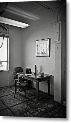 Guard Dining Area In Alcatraz Prison Metal Print by RicardMN Photography
