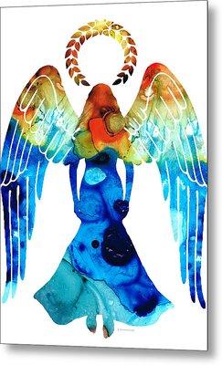 Guardian Angel - Spiritual Art Painting Metal Print by Sharon Cummings