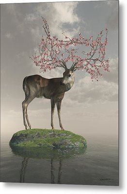 Guardian Of Spring Metal Print by Cynthia Decker