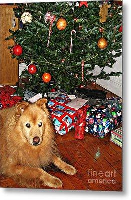 Guardian Of The Christmas Tree Metal Print by Sarah Loft