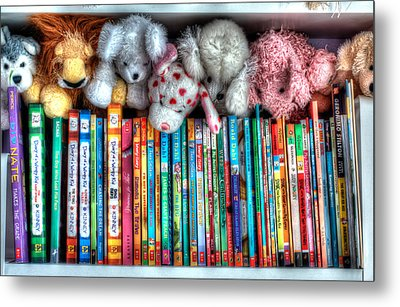 Guardians Of The Library Metal Print by Jeffrey Cohen