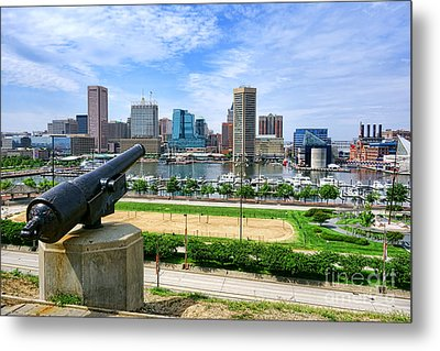 Guarding Baltimore Metal Print by Olivier Le Queinec
