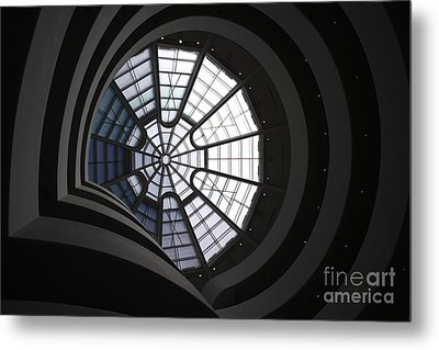 Guggenheim Interior Metal Print by David Bearden