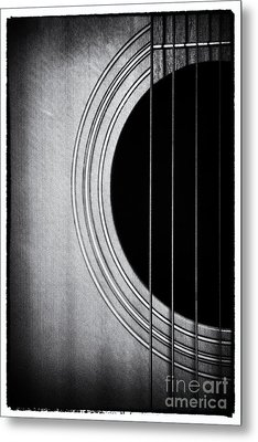 Guitar Film Noir Metal Print by Natalie Kinnear