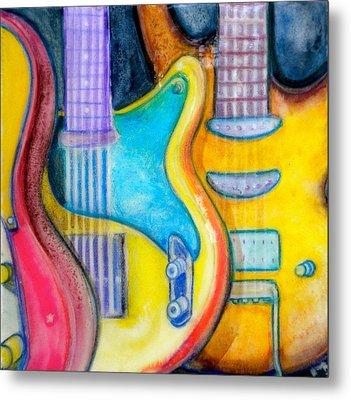 Guitars Metal Print by Debi Starr