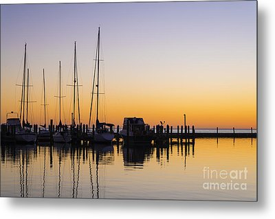 Gulf Of Mexico Sailboats At Sunrise Metal Print by Andre Babiak
