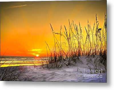 Gulf Sunset Metal Print by Marvin Spates