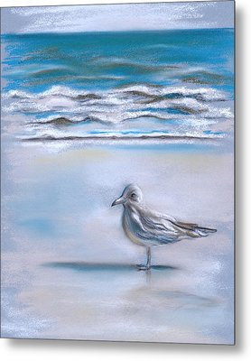 Gull On The Shore Metal Print by MM Anderson