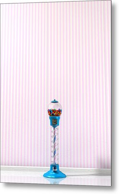 Gumball Machine In A Candy Store Metal Print by Allan Swart