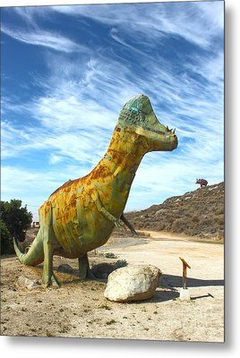 Gumby-saurus Metal Print by Gregory Dyer