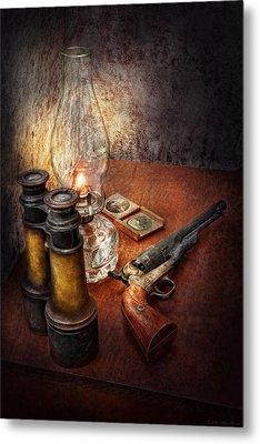 Gun - The Adventures Code  Metal Print by Mike Savad