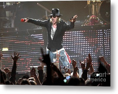 Guns N' Roses Metal Print by Front Row  Photographs