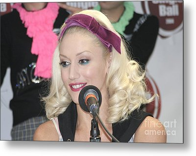 Singer Gwen Stefani Metal Print by Concert Photos