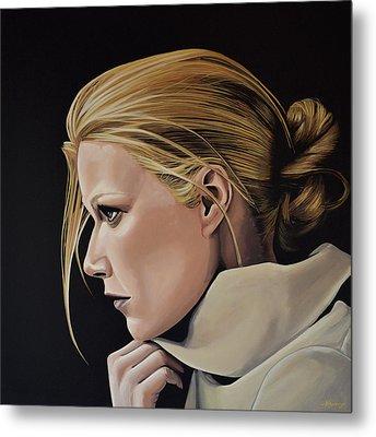 Gwyneth Paltrow Painting Metal Print by Paul Meijering