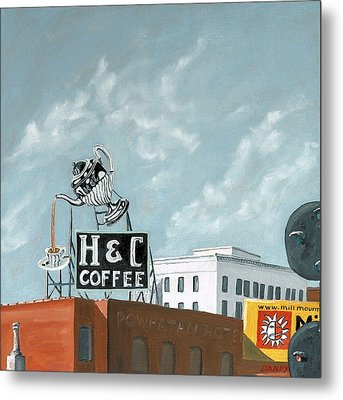 H And C Coffee Metal Print by Todd Bandy