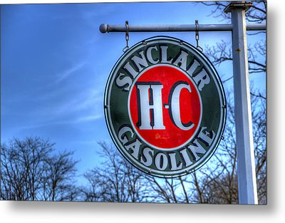 H-c Sinclair Gasoline Metal Print by David Simons