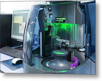 Haematology Laboratory Metal Print by Aberration Films Ltd