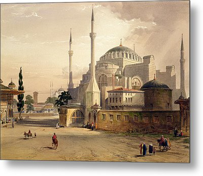 Haghia Sophia, Plate 17 Exterior View Metal Print by Gaspard Fossati