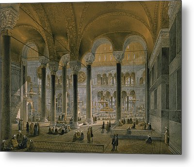 Haghia Sophia, Plate 6 The North Nave Metal Print by Gaspard Fossati
