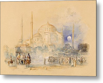 Hagia Sofia Metal Print by Joseph Mallord William Turner