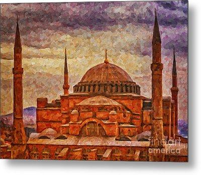 Hagia Sophia Digital Painting Metal Print by Antony McAulay
