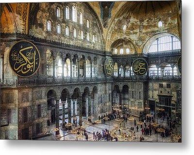 Hagia Sophia Interior Metal Print by Joan Carroll