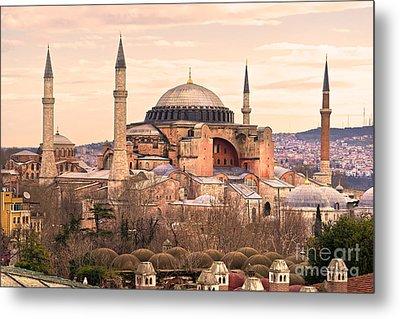 Hagia Sophia Mosque - Istanbul Metal Print by Luciano Mortula