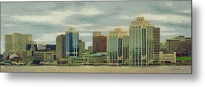 Halifax From The Harbour Metal Print by Jeff Kolker