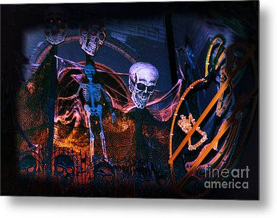 Halloween Ghost Party Metal Print by Charline Xia