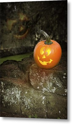 Halloween Jack O Lanterns Metal Print by Amanda And Christopher Elwell