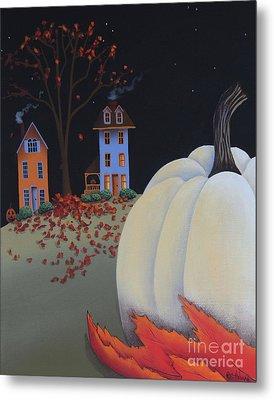 Halloween On Pumpkin Hill Metal Print by Catherine Holman