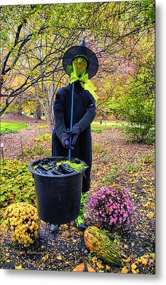 Halloween Witch Metal Print by Thomas Woolworth