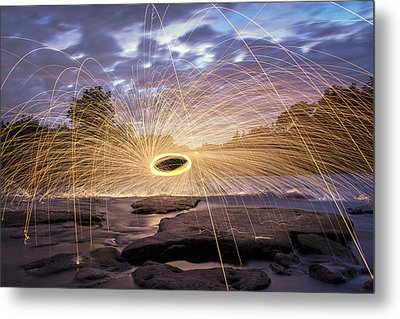 Halo On The American River Metal Print by Lee Harland