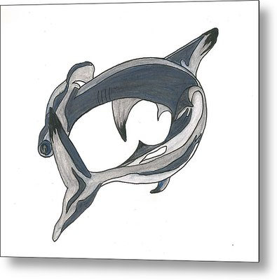 Hammer Head Shark Metal Print by Cherie Sexsmith