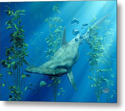 Hammerhead Art Metal Print by Daniel Eskridge