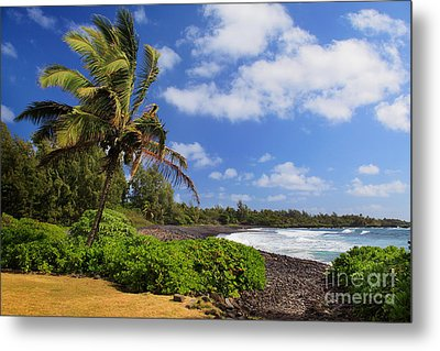 Hana Beach Metal Print by Inge Johnsson
