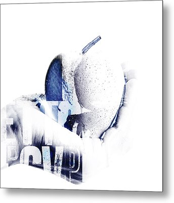 Hand And Apple  Metal Print by Toppart Sweden