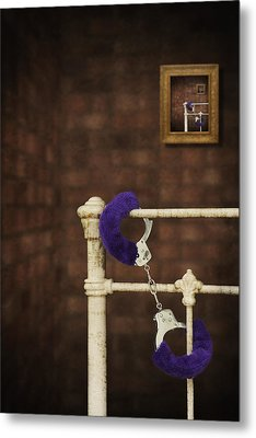 Handcuffs Metal Print by Amanda And Christopher Elwell