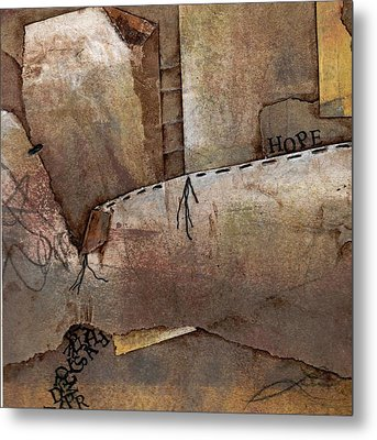 Hanging By A Thread Metal Print by Laura  Lein-Svencner
