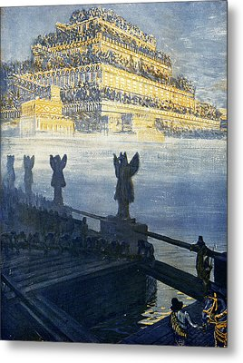 Hanging Gardens Of Babylon Metal Print by Cci Archives