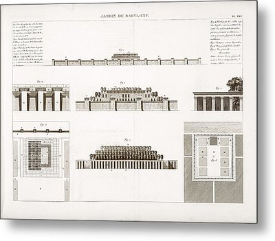 Hanging Gardens Of Babylon Metal Print by Science, Industry And Business Library/new York Public Library