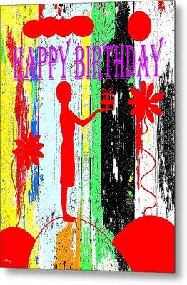 Happy Birthday 7 Metal Print by Patrick J Murphy