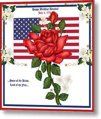 Happy Birthday America Metal Print by Anne Norskog